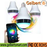 O bulbo do diodo emissor de luz de Gelbert tem o altofalante claro colorido do teatro Home