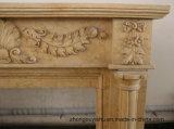 À venda lareiras de mármore com multa Hand-Carved Qualidade e design simples T-7103