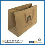 Brown Kraft Paper Shopping Bag com alça plana (GJ-bag154)