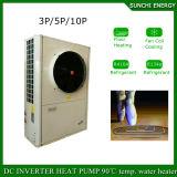 Netherland/chauffage d'étage air-eau chaud de pompe à chaleur de l'eau 19kw/35kw/70kw Evi de douche du mètre Room+55c de la chaleur 120sq hiver de la France -20c