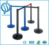 Black Polished Que Manager Barrier with Belt