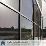 6+9A+6mm plana/Dobre Apagar/Cor do vidro isolante de paredes de Cortina