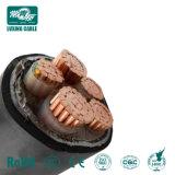 Cabo de alimentação blindados subterrâneo Cu XLPE Swa Tamanho PVC 120mm 240mm XLPE 4 Core Cabo Blindado