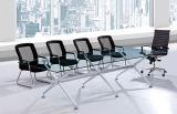 Whosaleの中国フォーシャンの現代緩和されたガラスの上の会議の席