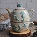 De ceramische Reeks van de Kop van de Koffie van de Gift van de Theepot Ceramische en van de Kop van de Theepot van het Porselein van de Pot