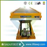 Scissor örtlich festgelegte hydraulische 2ton Rollen-Förderanlagen-hölzerne Aufzug-Tische