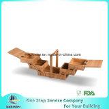 Cestino di cucito estendibile di cucito di bambù della casella dell'annata con la maniglia