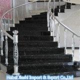 Uitstekende kwaliteit Opgepoetste Binnen het Bedekken van het Graniet van de Premie Zwarte Stappen/Treden