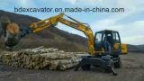 Gru a benna del legname degli escavatori della rotella per la canna da zucchero/il legno Catching
