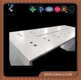 Mesa de exibição de madeira personalizada para celular