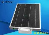 Lâmpadas de rua solares completas de deteção automáticas do diodo emissor de luz da fonte solar verde