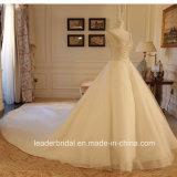 2017 der Spitze-Brautkleider V-Ausschnitt Schutzkappe Sleeves Perlen-auf lager reales Hochzeits-Kleid G1875