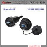 Señal de transmisión Conector IP67 Conector USB Estilos / USB con cierre de tornillo