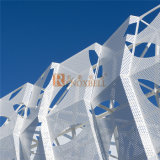 Blatt-hohles Muster-perforiertes Aluminiumblatt für Fassade-System