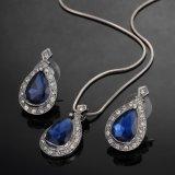 Reeks van de Juwelen van de Daling van het Water van het Kristal van de manier de Blauwe Afrikaanse
