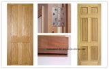Intérieur en bois solide/porte en bois d'épreuve d'incendie porte d'entrée avec 2 heures