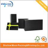 Kundenspezifischer preiswertes steifes Papiergeschenk-verpackenkasten mit Fenster/dem heißen Stempeln (QYCI006)