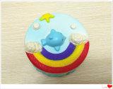 Bolo de arco-íris brinquedo Squishies PU Squishy Subida Lenta perfumada Toy
