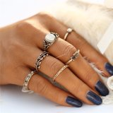 Ring van de Kleur van de Gravure van de Juwelen van Boho van het blad de Unieke Tibetan Gouden