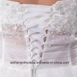 "Veste ""sexy"" transparente nova da cintura de Tulle do vestido de casamento da chegada"