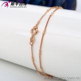 Form-weibliche Rosen-Goldfarben-Halsketten-Schmucksachen (42398)