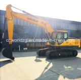Excavadora de 0,9 m3 de maquinaria de construcción con la cuchara