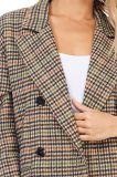 Xiaoilv88повседневный женщин двойной Breasted Клетчатую зимой траншея нанесите на