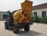 A caraterística móvel do misturador concreto combina autoflutuante, a ponderação, a mistura e o descarregamento