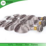 Commercio all'ingrosso brasiliano dei capelli umani di Remy dei capelli grigi