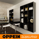 Современные деревянные зерна МДФ Кухонные шкафы (OP15-PP03)