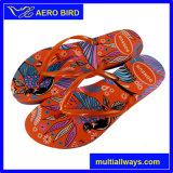 Горячий стиле PE женщин тапочки с высоты птичьего полета печать (15I020)