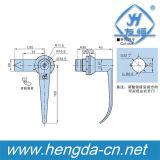Cabinet Lock Handle Lock Lever Door Handle with Lock (YH9685)