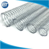 O fio de aço de PVC em espiral reforçado com mangueira de sucção flexível transparente