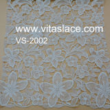 Stof van het Kant van de Guipure van de Polyester van het ivoor de Geribde voor Huwelijk In het groot vl-62187c