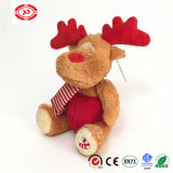 Brown Moose Sitting Animal Brodé Brodé Soft Gift Jouet pour enfants