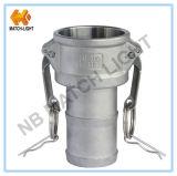 Guarnición de manguera del Camlock del bastidor de la precisión del acero inoxidable (tipo C)
