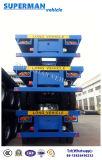 De Doulbe d'essieu de conteneur de lit plat remorque de camion semi