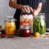 Grandi contenitori di alimento di vetro della cristalleria dell'articolo da cucina del vaso senza piombo dell'alimento