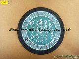 絹の印刷のロゴのSGS (B&C-G102)が付いている円形のコルクのコースターが付いている全販売の純粋なコルク