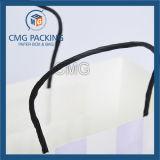 Zoll gedruckte Packpapier-Einkaufstasche (DM-GPBB-130)