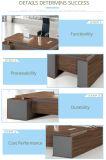 Mesa de escritório de madeira da saliência da noz preta de projeto moderno