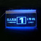 LED acrylique Guide Guide de signes, des signes d'affichage lumineux