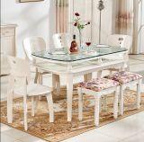 테이블 또는 사무실 문에 있는 단단하게 한 유리제 Uesd