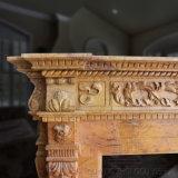 Mármore clássico lado entalhado Lareira a Mantel para decoração