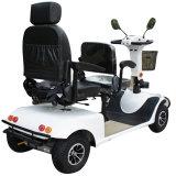 二重シートが付いている四輪800Wブラシの電子スクーター