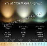 Et28 níquel cepillado de cristal LED de iluminación residencial luz pendiente