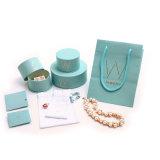 Sky Ronda joyas de diamantes de color en papel de embalaje Caja de regalo Factory