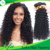 自然なカラー毛の拡張人間のインドの毛の深い波