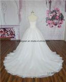 Мантия венчания Bridal платья глубокая v Applique шнурка высокого качества