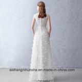 Кружевной цветок свадебные платья без рукавов изготовленный на заказ<br/> валик длиной